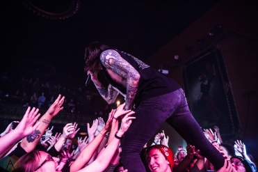 Blessthefall performs at the Opera House in Toronto on November 18, 2016. (Photo: Kelsey Giesbrecht/Aesthetic Magazine)