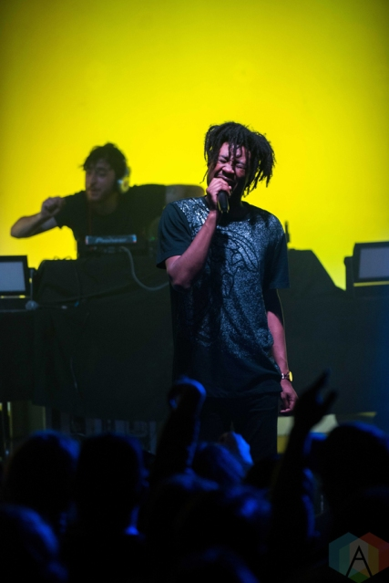 Danny Brown performs at the Town Ballroom in Buffalo, New York on November 3, 2016. (Photo: Josh Ladouceur/Aesthetic Magazine)
