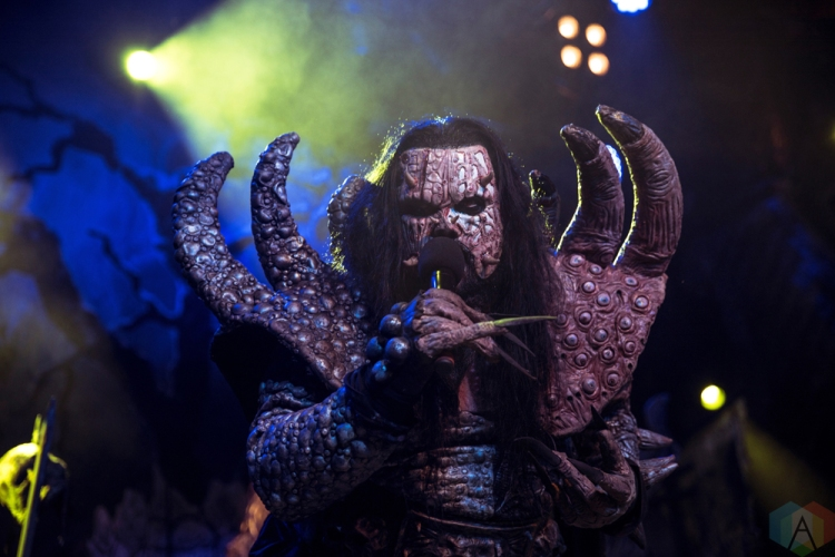 Lordi performs at the O2 Academy Islington in London, UK on November 20, 2016. (Photo: Rossi Ivanova/Aesthetic Magazine)