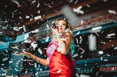 Mariah Carey performs at Hudson's Bay / Saks Fifth Avenue in Toronto on November 3, 2016. (Photo: Anthony D'Elia/Aesthetic Magazine)