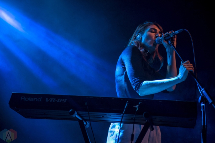 Hannah Georgas performs at the Mod Club in Toronto on December 7, 2016. (Photo: Sarah McNeil/Aesthetic Magazine)