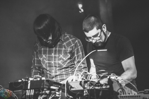 MSTRKRFT performs at the Hoxton in Toronto on December 3, 2016. (Photo: Brendan Albert/Aesthetic Magazine)