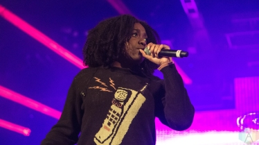 Noname performs at Reaction NYE at the Donald E. Stephenson Convention Center in Rosemont, IL on December 30, 2016. (Photo: Taylor Ohryn/Aesthetic Magazine)