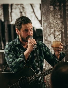 Sam Roberts Band performs at Tiny Record Shop in Toronto on December 3, 2016. (Photo: David Scala/Aesthetic Magazine)