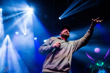 Aesop Rock performs at Rebel in Toronto on January 29, 2017. (Photo: Lauren Garbutt/Aesthetic Magazine)