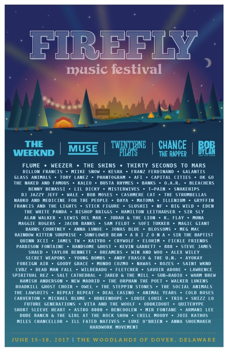 Firefly Music Festival 2017 Poster