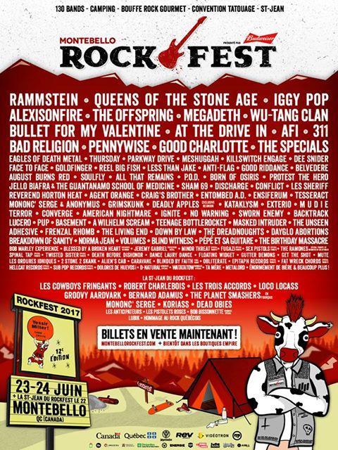Amnesia Rockfest Lineup 2017
