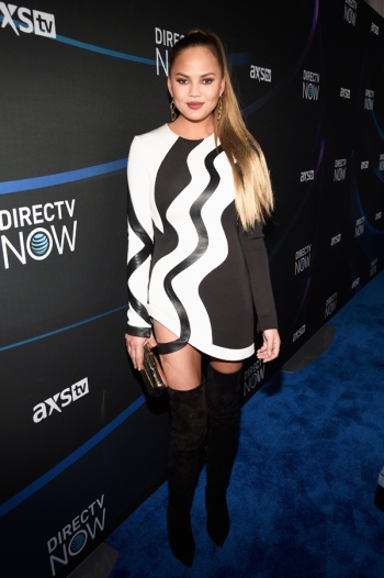 Chrissy Teigen attends the 2017 DIRECTV NOW Super Saturday Night Concert at Club Nomadic on February 4, 2017 in Houston, Texas. (Photo: Kevin Mazur/Getty)