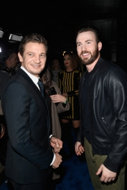 Actors Jeremy Renner (L) and Chris Evans attend the 2017 DIRECTV NOW Super Saturday Night Concert at Club Nomadic on February 4, 2017 in Houston, Texas. (Photo: Frazer Harrison/Getty)