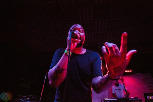 P.O.S performs at Adelaide Hall in Toronto on January 31, 2017. (Photo: Lauren Garbutt/Aesthetic Magazine)