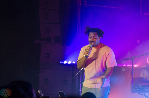 Sampha performs at the Mod Club in Toronto on February 12, 2017. (Photo: Janine Wong/Aesthetic Magazine)