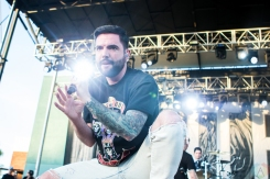 A Day To Remember performs at the Kino Veterans Memorial Stadium in Tucson, AZ on March 26, 2017 during KFMA Day. (Photo: Meghan Lee/Aesthetic Magazine)