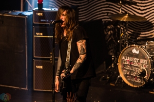 Against Me performs at the Oshawa Music Hall in Oshawa, ON on March 18, 2017. (Photo: Tyler Roberts/Aesthetic Magazine)