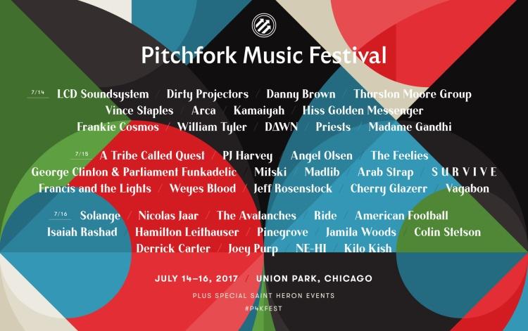 Pitchfork Festival 2017 Lineup