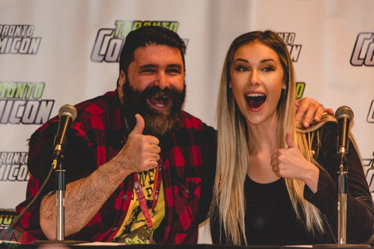 WWE legend Mick Foley appears at Toronto ComiCon 2017 at the Metro Toronto Convention Centre in Toronto. (Photo: Rick Clifford/Aesthetic Magazine)