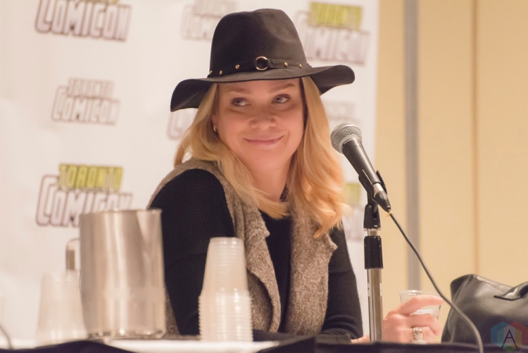 Laurie Holden (The Walking Dead) appears at Toronto ComiCon 2017 at the Metro Toronto Convention Centre in Toronto. (Photo: Angelo Marchini/Aesthetic Magazine)