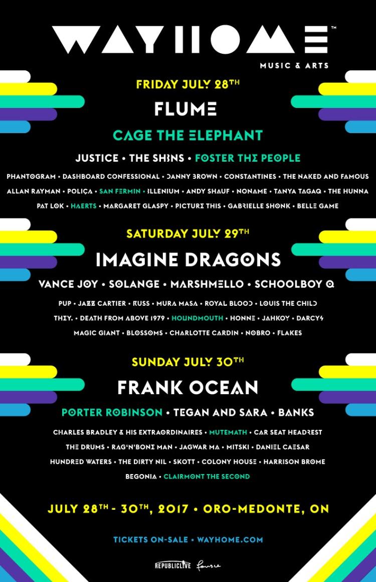 Wayhome Festival Lineup 2017