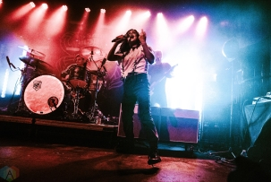 Against The Current performs at St. Andrew's Hall in Detroit on April 8, 2017. (Photo: Ciara Glagola/Aesthetic Magazine)