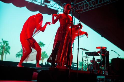 Banks performs at the Coachella Music Festival in Indio, California on April 14, 2017. (Photo: Erik Voake)
