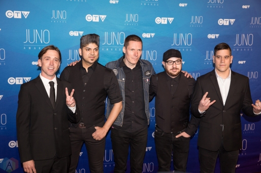 Billy Talent attends the 2017 JUNO Awards at the Canadian Tire Centre in Ottawa on April 2, 2017. (Photo: Brendan Albert/Aesthetic Magazine)