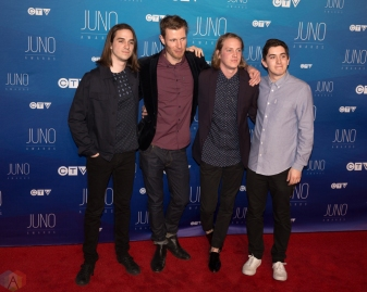 Bleeker attends the 2017 JUNO Awards at the Canadian Tire Centre in Ottawa on April 2, 2017. (Photo: Brendan Albert/Aesthetic Magazine)