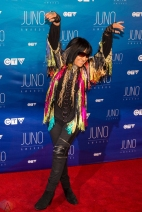 Buffy St. Marie attends the 2017 JUNO Awards at the Canadian Tire Centre in Ottawa on April 2, 2017. (Photo: Brendan Albert/Aesthetic Magazine)