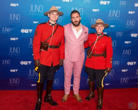 Coleman Hell attends the 2017 JUNO Awards at the Canadian Tire Centre in Ottawa on April 2, 2017. (Photo: Brendan Albert/Aesthetic Magazine)