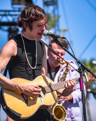 Ezra Furman performs at the Coachella Music Festival in Indio, California on April 16, 2017. (Photo: Charles Reagan)