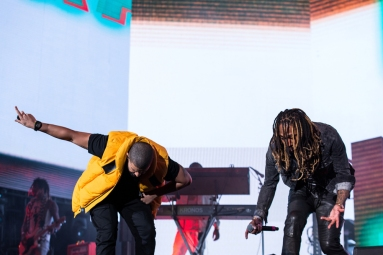 Future and Drake perform at the Coachella Music Festival in Indio, California on April 15, 2017. (Photo: Greg Noire)