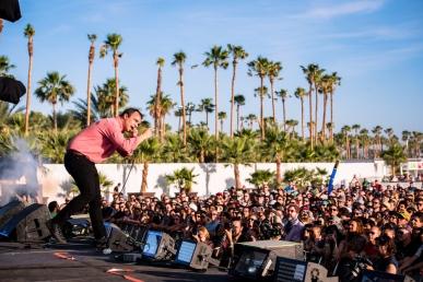 Future Islands performs at the Coachella Music Festival in Indio, California on April 16, 2017. (Photo: Charles Reagan)
