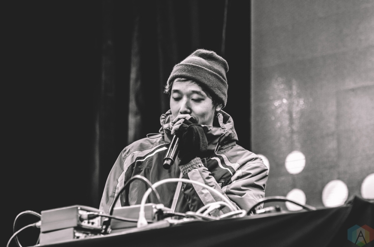 Giraffage performs at Snowbombing Canada at Sun Peaks Resort in Sun Peaks, British Columbia on April 9, 2017. (Photo: Timothy Nguyen/Aesthetic Magazine)