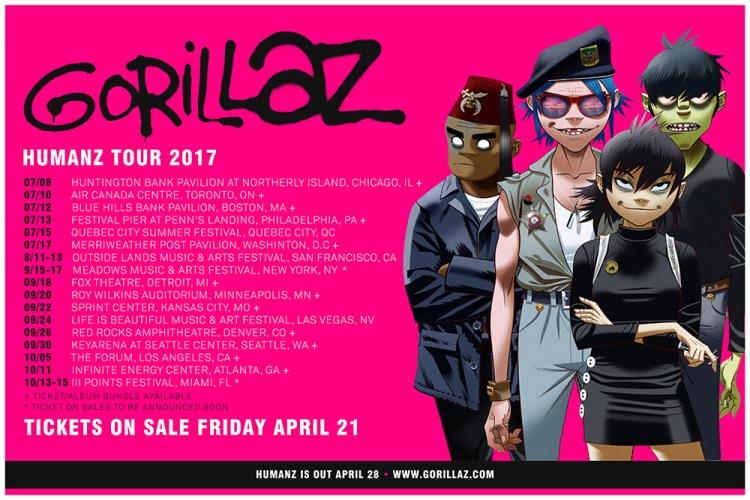 Gorillaz Humanz Tour 2017