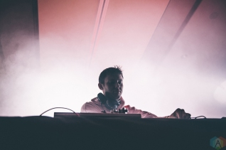 Hudson Mohawke performs at Snowbombing Canada at Sun Peaks Resort in Sun Peaks, British Columbia on April 8, 2017. (Photo: Timothy Nguyen/Aesthetic Magazine)