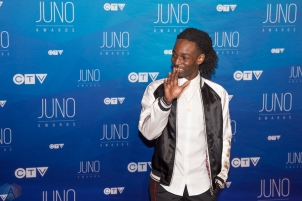 Jazz Cartier attends the 2017 JUNO Awards at the Canadian Tire Centre in Ottawa on April 2, 2017. (Photo: Brendan Albert/Aesthetic Magazine)
