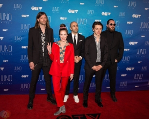 July Talk attends the 2017 JUNO Awards at the Canadian Tire Centre in Ottawa on April 2, 2017. (Photo: Brendan Albert/Aesthetic Magazine)