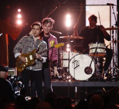 """Arkells perform """"Drake's Dad"""" at the 2017 JUNO Awards at the Canadian Tire Centre in Ottawa on April 2, 2017. (Photo: CARAS)"""