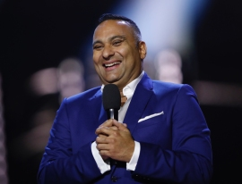 Co-Host Russell Peters at the 2017 JUNO Awards at the Canadian Tire Centre in Ottawa on April 2, 2017. (Photo: CARAS)