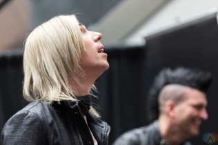 Josh Ramsay of Marianas Trench appears at JUNO Fan Fare at the Rideau Centre in Ottawa on April 1, 2017. (Photo: Brendan Albert/Aesthetic Magazine)