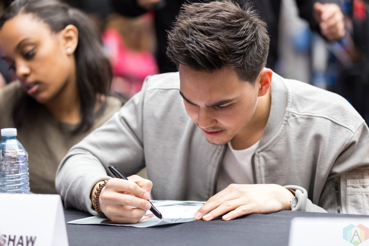 Tyler Shaw appears at JUNO Fan Fare at the Rideau Centre in Ottawa on April 1, 2017. (Photo: Brendan Albert/Aesthetic Magazine)