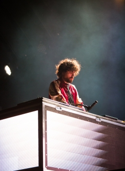 Justice performs at the Coachella Music Festival in Indio, California on April 16, 2017. (Photo: Brian Willette)