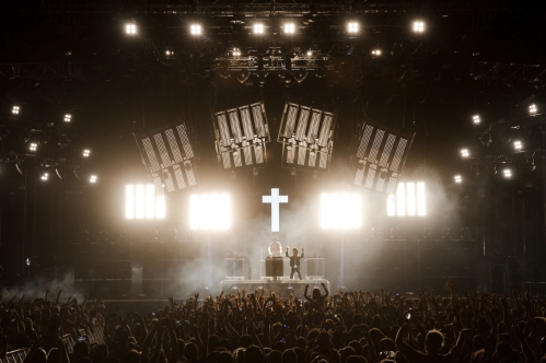 Justice performs at the Coachella Music Festival in Indio, California on April 16, 2017. (Photo: Julian Bajsel)
