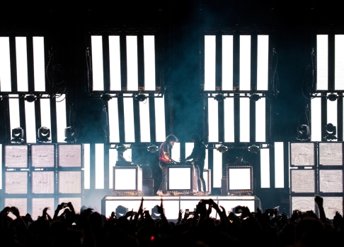 Justice performs at the Coachella Music Festival in Indio, California on April 16, 2017. (Photo: Andrew Jorgenson)