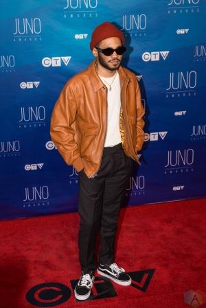 Kaytranada attends the 2017 JUNO Awards at the Canadian Tire Centre in Ottawa on April 2, 2017. (Photo: Brendan Albert/Aesthetic Magazine)