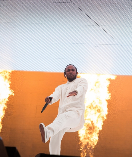 Kendrick Lamar performs at the Coachella Music Festival in Indio, California on April 16, 2017. (Photo: Greg Noire)