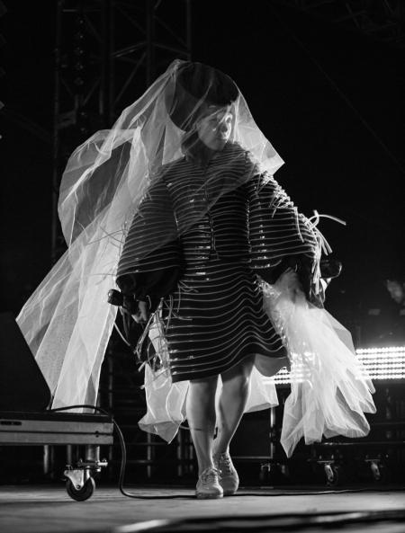 Little Dragon performs at the Coachella Music Festival in Indio, California on April 14, 2017. (Photo: Erik Voake)