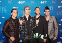 Marianas Trench attends the 2017 JUNO Awards at the Canadian Tire Centre in Ottawa on April 2, 2017. (Photo: Brendan Albert/Aesthetic Magazine)