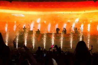 Marshmello performs at the Coachella Music Festival in Indio, California on April 16, 2017. (Photo: Erik Voake)
