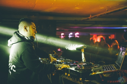 Mikey De Roza performs at Snowbombing Canada at Sun Peaks Resort in Sun Peaks, British Columbia on April 7, 2017. (Photo: Timothy Nguyen/Aesthetic Magazine)