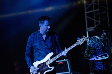 New Order performs at the Coachella Music Festival in Indio, California on April 16, 2017. (Photo: Roger Ho)