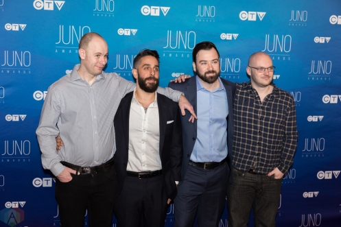 Protest The Hero attends the 2017 JUNO Awards at the Canadian Tire Centre in Ottawa on April 2, 2017